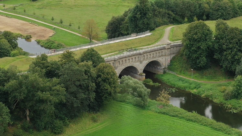 Dreibogenbrücke mit Steverstrand