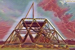 Spurwerkturm auf Halde Brockenscheidt / Waltrop