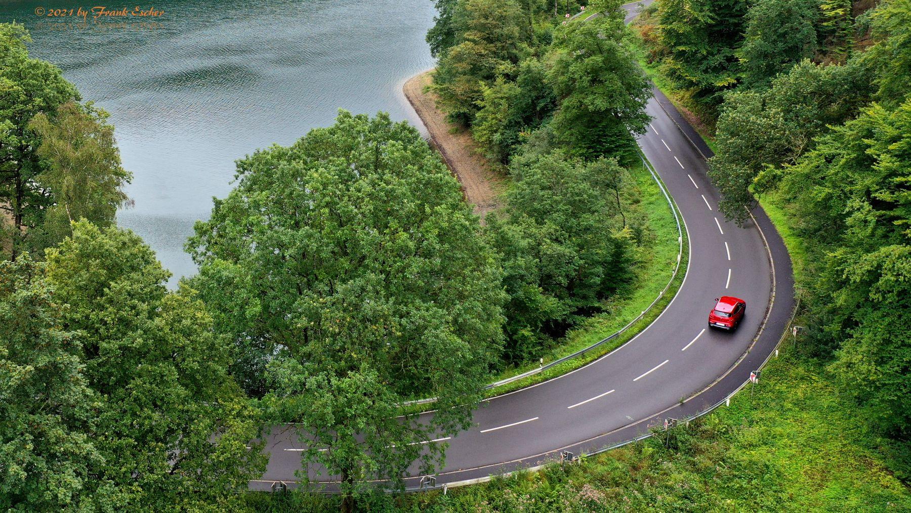 Lake And Car